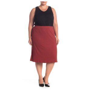 14th & Union Textured Knit Midi Skirt